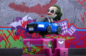 The Joker dark knight coin rides