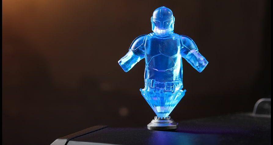 hologram of The Mandalorian armor