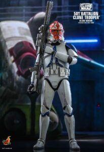 orange patterned Clone Trooper helmet