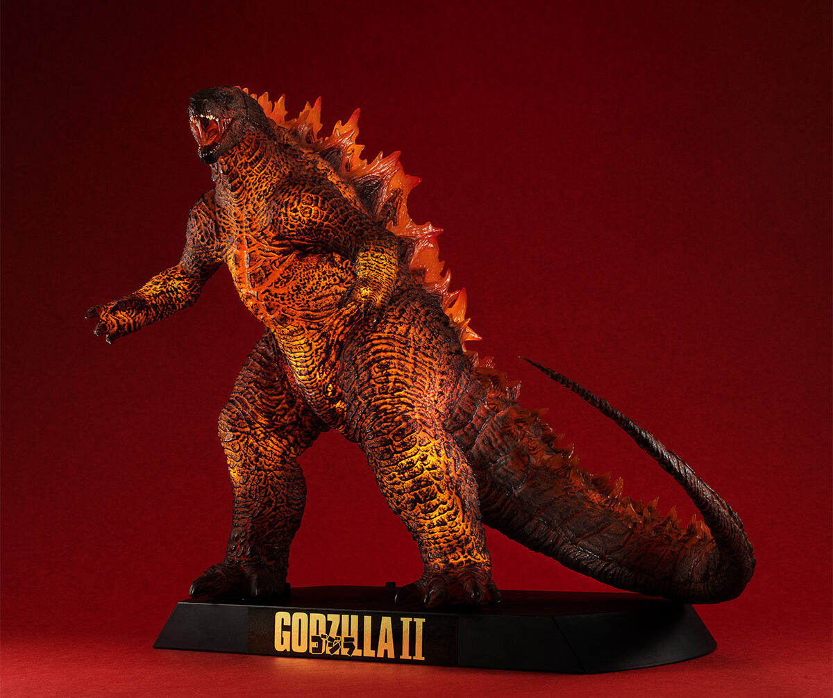 Burning Godzilla figure