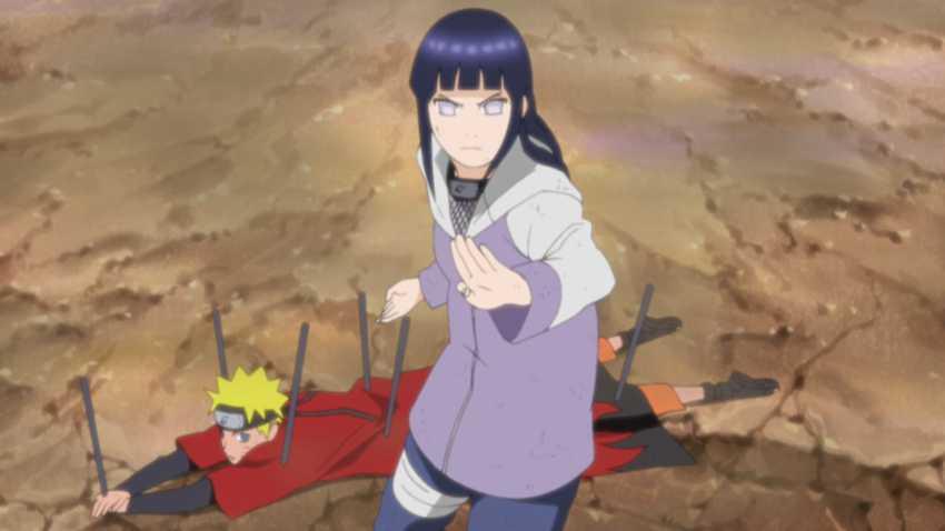 Hinata protecting Naruto