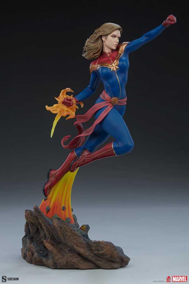captain marvel statue