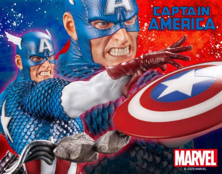 Captain America Fine Art Statue