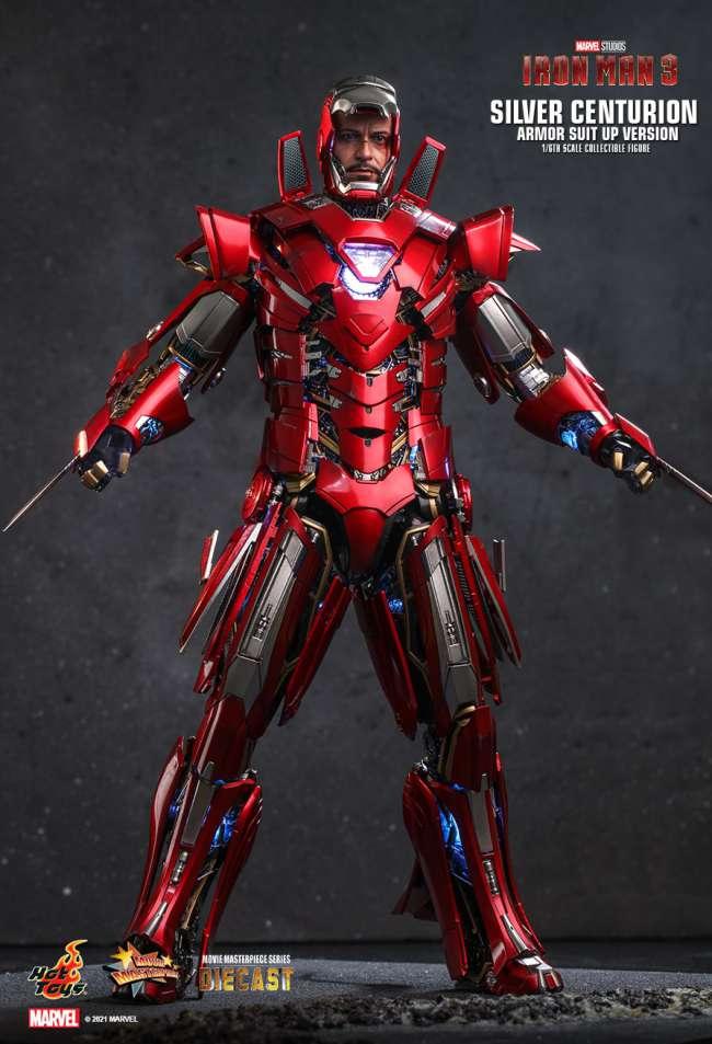 Iron Man 3 Mark 33 Silver Centurion Figure